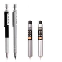 deli 得力 全金属自动铅笔 0.9mm 1盒铅芯