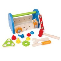 Hape益智玩具工具箱玩具木质拼拆装小小修理师工具盒套装 +凑单品