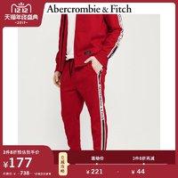 1212预售价:Abercrombie&Fitch男装 Logo镶边经编慢跑休闲裤 253714-1 AF