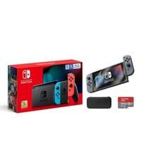 Nintendo 任天堂 Switch 续航升级版 游戏主机 国行 保护包+SD卡套装