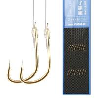 佳钓尼(JIADIAONI)鱼钩套装全套绑好子线双钩成品线组溪流鱼线金袖组钓鱼钩 一版8付