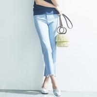 12日0点 : UNIQLO 优衣库 420408  高腰紧身喇叭牛仔九分裤