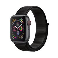 CangHua 仓华 苹果手表表带 iwatch表带 apple watch5/4/3/2/1代通用魔术贴尼龙回环运动表带-38/40mm黑色 bp06