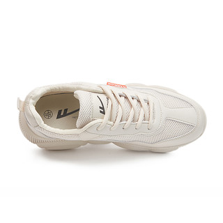 回力官方旗舰店女鞋夏季低帮休闲鞋小白鞋小熊鞋底老爹鞋WXY-2496