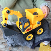 henes 儿童可拆卸益智拼装工程车 25*11*14cm 配置螺丝刀+扳手