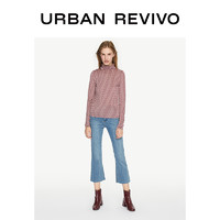 URBAN REVIVO WE37S4GN2000 花卉印花高领T恤