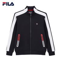 FILA 斐乐官方 男子外套 2020春季新款运动休闲撞色针织长袖外套
