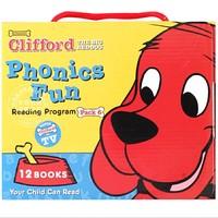 《大红狗克里弗套装系列6 CLIFFORD PHONICS FUN PACK 6》英文原版 套装12册+CD