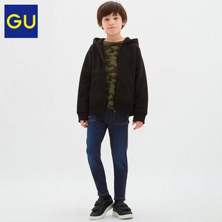GU 极优 童装320987  高弹力牛仔紧身裤(水洗产品) 06 铅灰色 110