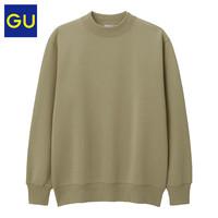 GU 极优 男装321608小高领套头卫衣 02浅灰色 165/84A/S