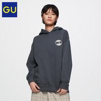 GU 极优 女装 连帽套头卫衣 01 乳白色  155/80A/S