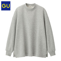 GU 极优 女装 322330  宽松套头卫衣 01 乳白色  155/80A/S