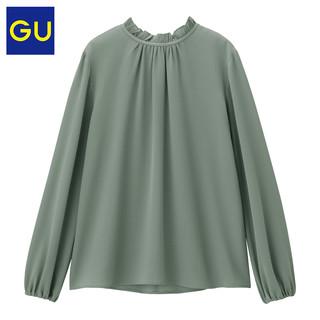 GU 极优 女装 花边领衬衫(一款两穿) 322107  09黑色 155/80A/S