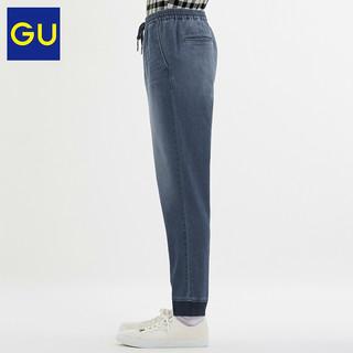 GU 极优 男装 牛仔束脚裤(水洗产品) 323191 09黑色 165/72A/S