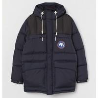 H&M 0762154 冬季夹棉连帽外套
