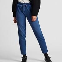 UNIQLO 优衣库 419689 女装 仿羊羔绒牛仔针织长裤(水洗产品)