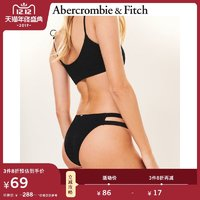 Abercrombie&Fitch女装 细带抽褶半包臀泳裤 234946-2 AF