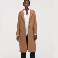 H&M 0689985 女装至臻品质羊毛呢大衣