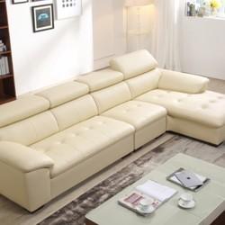 ZUOYOU 左右 ZY5001 真皮沙发组合转二件正向+休单