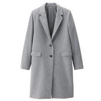 GU 极优 306717 女士羊毛混纺大衣