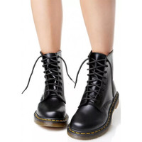 Dr.martens 马汀博士1460经典款 光面硬皮8孔马丁靴
