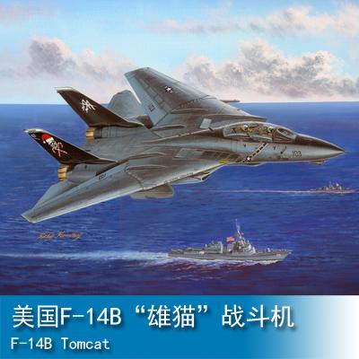 "TRUMPETER 小号手HOBBY BOSS 1/48 美国F-14B""雄猫""战斗机 80367"