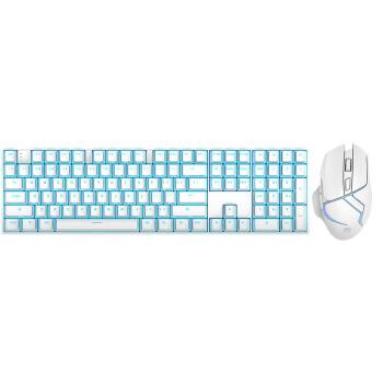 RK RK932 机械键盘鼠标套装 红轴 白色
