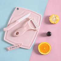 厨房刀具三件套陶瓷刀水果刀套装