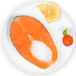 我爱渔 冷冻智利三文鱼圆切 大西洋鲑 300g 2-3块 *5件