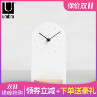 加拿大umbra台钟客厅卧室简约时钟创意钟表摆件个性实木座钟