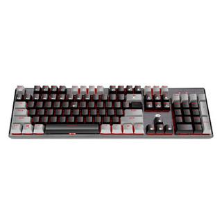 Hyeku 黑峡谷 GK715 机械键盘 有线键盘 游戏键盘 104键 红色背光 可插拔键盘 凯华BOX轴 黑灰 白轴