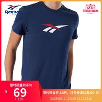 Reebok锐步 GRAPHIC IEZ79 男女休闲短袖T恤