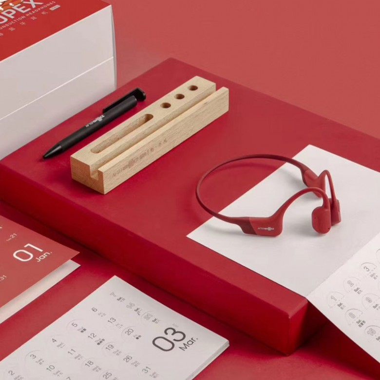 AfterShokz 韶音 AS800 AEROPEX 骨传导运动耳机 烈日红 新年款礼盒