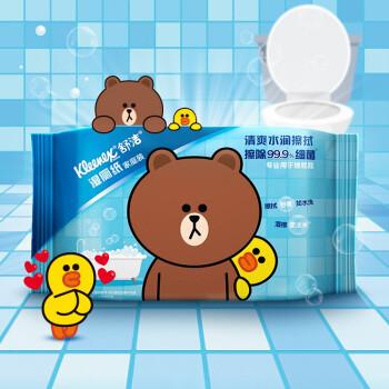 批发价:Kleenex 舒洁 LINE FRIENDS 湿厕纸 40片家庭装 *36件