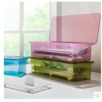 盒装沥水防尘餐具收纳盒简约时尚筷子盒厨房收纳用品塑料筷笼