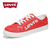 Levi's李维斯男鞋帆布鞋潮韩版低帮学生情侣鞋个性红色板鞋休闲鞋