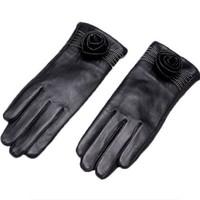 TLOVE 6537 女士羊皮加绒手套