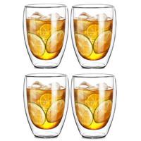 Le Bronte 朗特乐 高硼硅双层玻璃杯 350ml*4