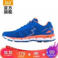 361度男鞋国际线跑步鞋新款轻量缓震运动鞋 Y812 经典蓝/热带橙 40.5