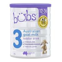 bubs 贝儿 婴幼儿羊奶粉 3段 800g