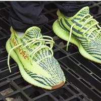 Adidas Yeezy Boost350 V2 荧光黄椰子跑鞋