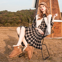 KEENZIE 经典防泼水木扣雪地靴/女靴  K573 多色多尺码可选 35 栗色