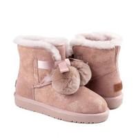 OZWEAR UGG OB452 女士史黛拉毛球雪地靴