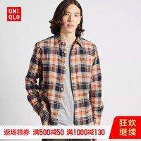 男装 法兰绒格子衬衫(长袖) 421199 优衣库UNIQLO