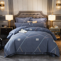 J.H.Longess 厚实全棉保暖磨毛四件套 床笠款 1.5米床
