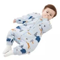 Wellber 威尔贝鲁  婴儿分腿加厚棉睡袋 厚棉大象丛林 75cm *2件 +凑单品