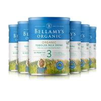 6罐装| 贝拉米 BELLAMY'S 有机婴幼儿奶粉3段 900克