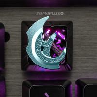 ZOMO PLUS dota2蝴蝶分身斧机械透光樱桃轴定制个性手办键盘帽
