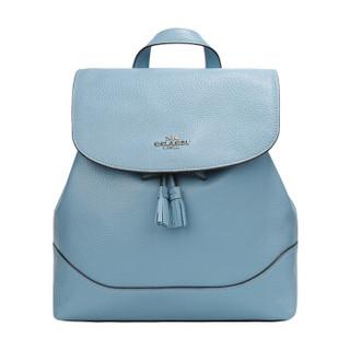 COACH 蔻驰 奢侈品 女士皮质蓝色双肩背包 F72645 SVCF *2件