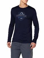 Icebreaker 男士 Spector Ls Crewe Alpine Crest Merino T 恤长袖衬衫
